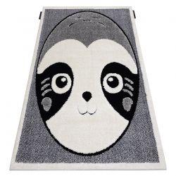 Covor modern pentru copii JOY Panda structural pe două niveluri de lână gri / crem