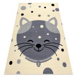 Covor BCF Flash Kitten 3998 - Kitty cremă / gri