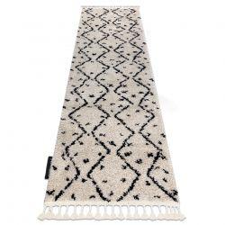 Covor, Traversa Berber TETUAN B751 zigzag cremă - pentru bucătărie, hol și coridor