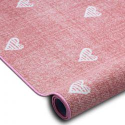 Mocheta pentru copii HEARTS Jeans, vintage inimile - roz