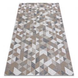 Covor CASA ECO SISAL Boho Triunghiurile 2816 cremă / taupe, covor reciclat