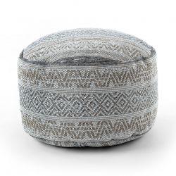 Pouff CILINDRU 50 x 50 x 50 cm suport pentru picioare Boho 2806, pentru șezut crema / taupe