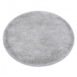 Covor FLUFFY cerc shaggy 5cm argint