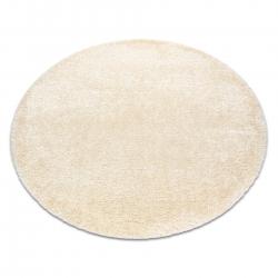 Covor FLUFFY cerc shaggy 5cm cremă