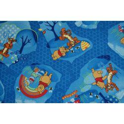Mocheta Winnie the Pooh Woodland albastru