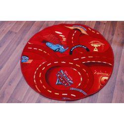 Covor copilăresc rotund Cars roșu