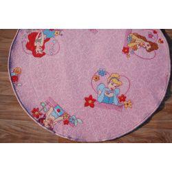 Covor copilăresc rotund Disney KSIĘŻNICZKI roz