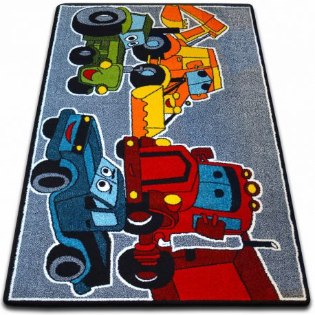Covor Kids Autoturisme gri C418