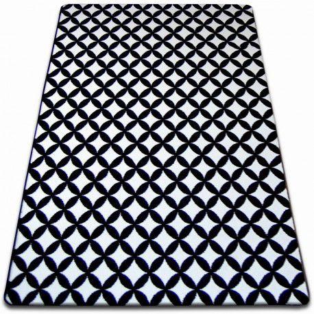 Covor Sketch - F757 alb și negru - Karo