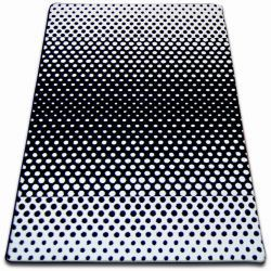 Covor Sketch - F762 alb și negru - Puncte