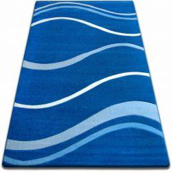 Covor Focus - 8732 albastru Valuri Linii
