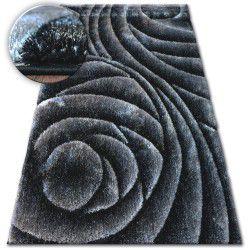 Covor Shaggy Space 3D B217 inchis gri negru